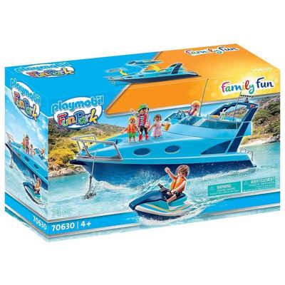 Playmobil® Spielzeug-Boot »PLAYMOBIL® 70630 - Family Fun - Fun Park - Yacht mit Jet Ski«