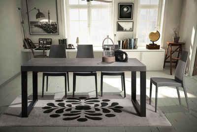 Home affaire Esstisch »Roma«, mit einer 8 cm aufgedoppelten Tischplatte, im hochwertigen italienischen Design, mit einem Metallgestell
