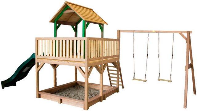 Empfehlung: Spielturm mit Sandkasten, zwei Schaukeln & Rutsche  von AXI*