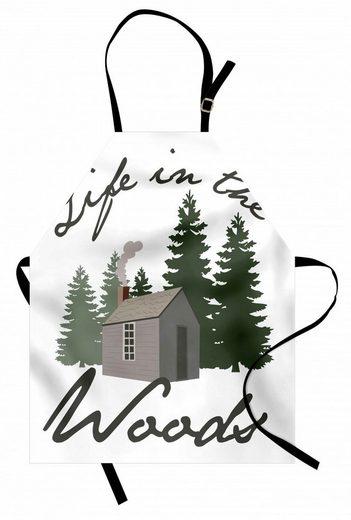 Abakuhaus Kochschürze »Höhenverstellbar Klare Farben ohne verblassen«, Blockhaus Rustic Lodge in Forest