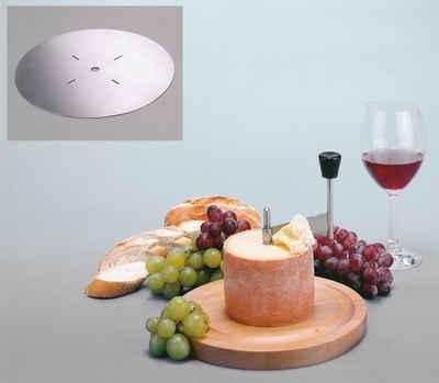 GSD HAUSHALTSGERÄTE Käsehobel, Edelstahl, Holz, für Tete de Moine Käse