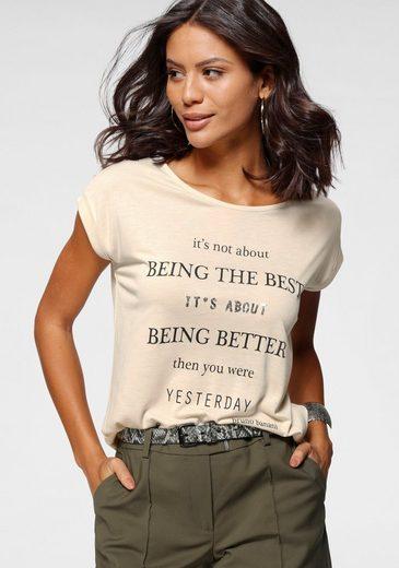Bruno Banani T-Shirt mit kleinen Pailletten
