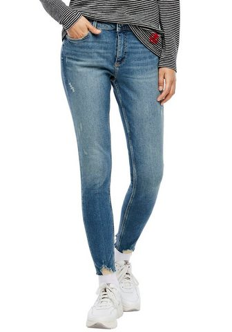 Q/S designed by Skinny-fit-Jeans su coolen Used-Effekt...