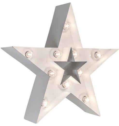 MARQUEE LIGHTS LED Dekolicht »Stern«, Wandlampe, Tischlampe Star mit 10 festverbauten LEDs - 38cm Breit und 38cm hoch