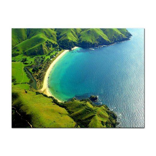 Bilderdepot24 Leinwandbild, Leinwandbild - Taupo Bucht - Neuseeland