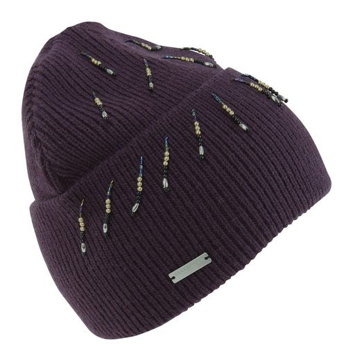 Seeberger Mütze mit Perlenkettchen