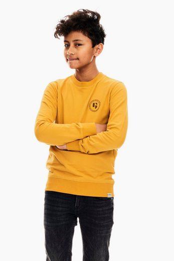 Garcia Sweater »GS030803 - 3051-dark grey melee 1« mit elastischen Bündchen