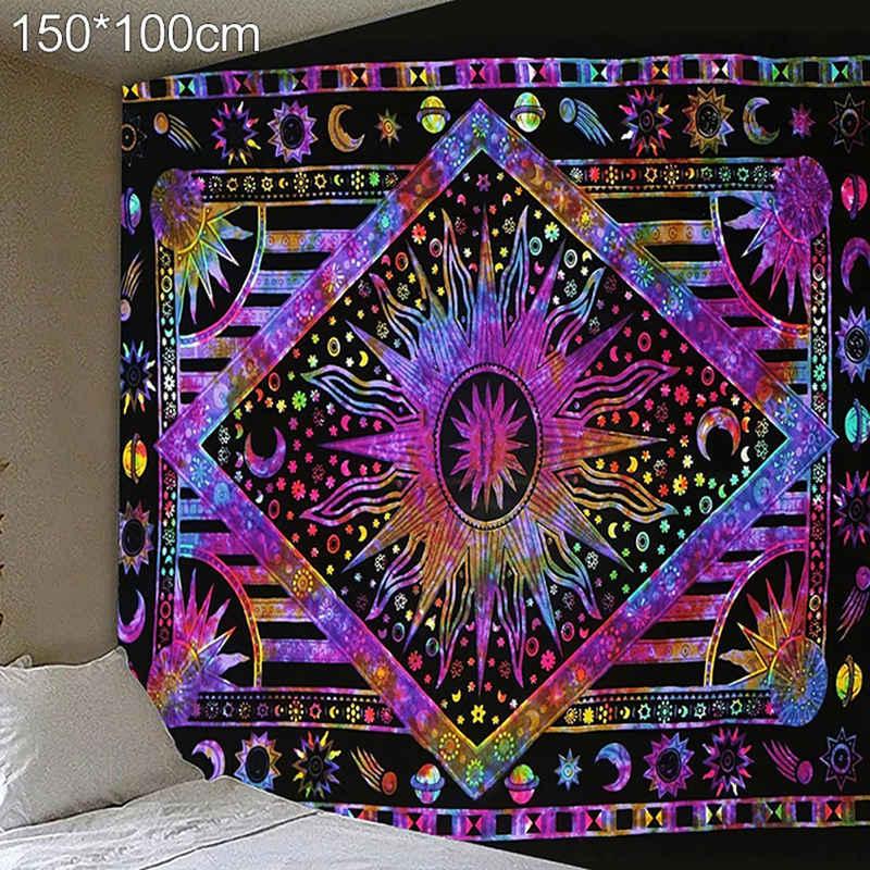 Wandteppich »Wandbehang«, Masbekte, Abstrakter Himmelskörper Mandala Tapisserie, Wandkuns, Wandtuchst, Tagesdecke, Strandtuch, Dekor