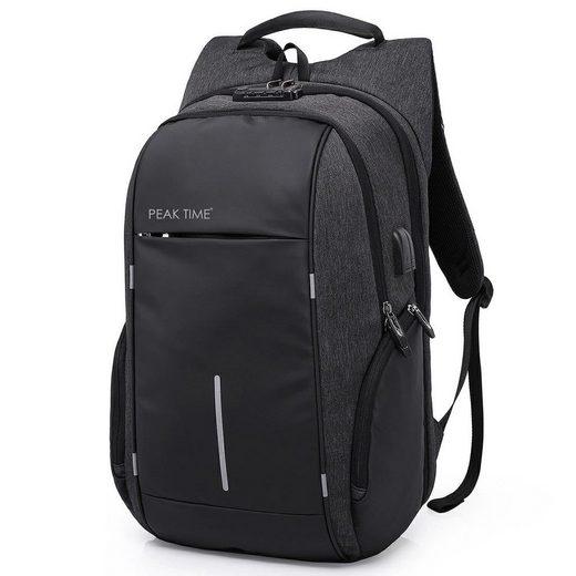 PEAK TIME Tagesrucksack »PT-304«, Cityrucksack mit praktischen Seitentaschen