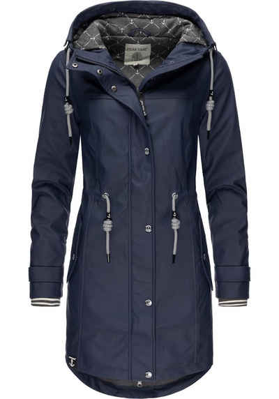 PEAK TIME Regenjacke »L60042« stylisch taillierter Regenmantel für Damen