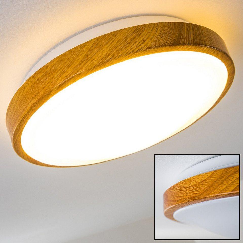 hofstein Deckenleuchte »»Rosola« Bad in Holz Optik   Deckenlicht für  Badezimmer mit warmweißem Licht für gemütliche Atmosphäre   Badlampe mit  modernem ...