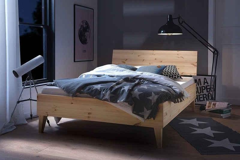 Siegelholz Massivholzbett »JONA Kiefer«, aus Massivholz, optional mit Nachtkonsole
