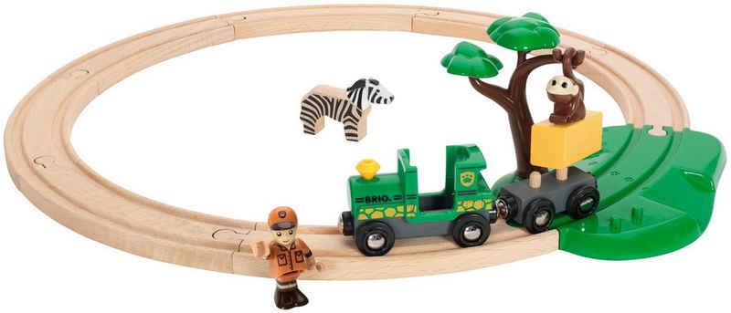 BRIO® Spielzeug-Eisenbahn »BRIO® WORLD Safari Bahn Set«, (Set), FSC®-Holz aus gewissenhaft bewirtschafteten Wäldern
