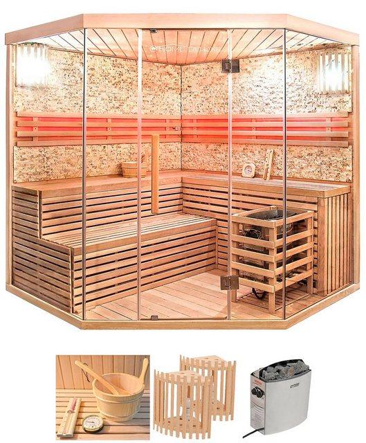 Saunen und Zubehör - HOME DELUXE Sauna »Skyline XL BIG«, BxTxH 200 x 200 x 210 cm, 50 mm, (Set) 8 kW Ofen mit int. Steuerung  - Onlineshop OTTO
