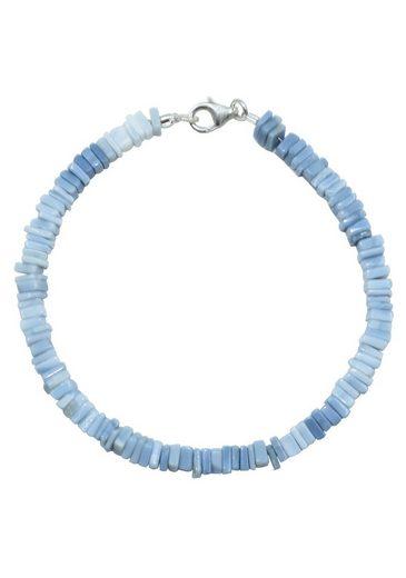 Firetti Armband »Steinstrang eckig, schimmernd, 4 mm breit«, mit Opal, Made in Germany