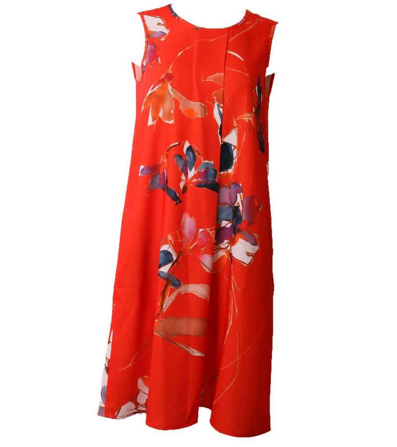 Daniel Hechter Sommerkleid »DANIEL HECHTER Kleid schickes Damen Ausgeh-Kleid mit Allovermuster Freizeit-Kleid Rot«
