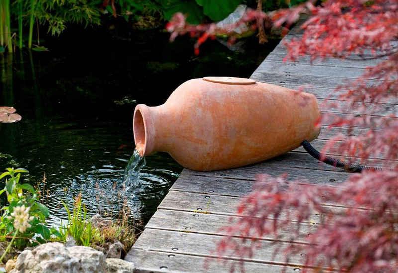 Ubbink Gartenbrunnen »Amphora«, 30 cm Breite, (Amphore; Pumpe: 900 l/h, 18 W, 230 V; Filtermedien; 2-m-Schlauch; 10-m-Kabel; Anschlussmaterial)