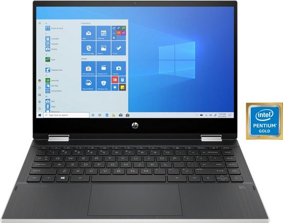 HP 14-dw1210ng Convertible Notebook (35,6 cm/14 Zoll, Intel Pentium Gold, UHD Graphics, 256 GB SSD)