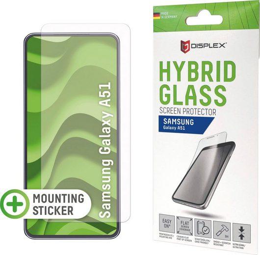 Displex »DISPLEX Hybrid Glass für Samsung Galaxy A51 (6,5), 9H, mit Montagesticker« für Galaxy A51, Displayschutzfolie