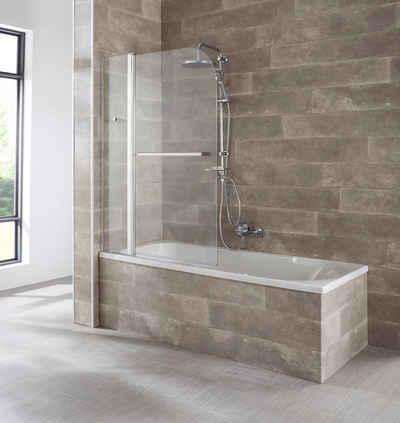 welltime Badewannenaufsatz »Mataro«, Einscheibensicherheitsglas, (2 tlg), BxH: 100x140cm