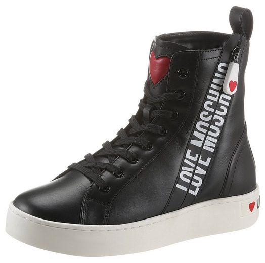 LOVE MOSCHINO Sneaker mit seitlichem Logoprint