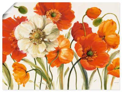 Artland Wandbild »Mohnblumen I«, Blumen (1 Stück), in vielen Größen & Produktarten -Leinwandbild, Poster, Wandaufkleber / Wandtattoo auch für Badezimmer geeignet