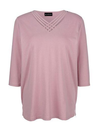m. collection 3/4-Arm-Shirt mit modischem Ausschnitt