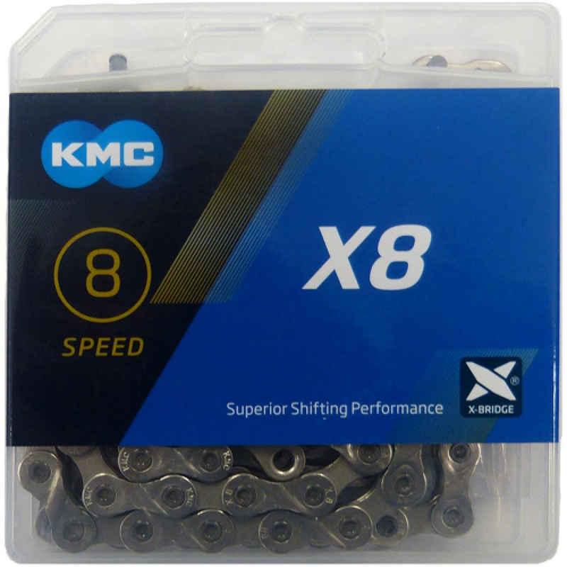 KMC Fahrradkette »Kette KMC X8 Silber 1/2' x 3/32', 114 Glieder 7,3m«