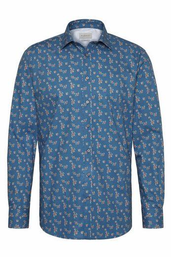 bugatti Langarmhemd mit einem Blumenmuster
