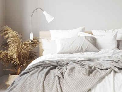 FISCHER & HONSEL LED Leselampe, Bett-Lampe Weiß für Kopfteil & Wand-Montage – 2 in 1 Leselicht Couch Sofa & Schlafzimmer Nachttisch