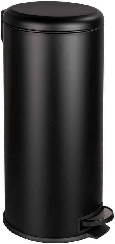 WENKO Mülleimer »Leman Easy Close«, 30 L, mit Absenkautomatik, Stahl/Kunststoff