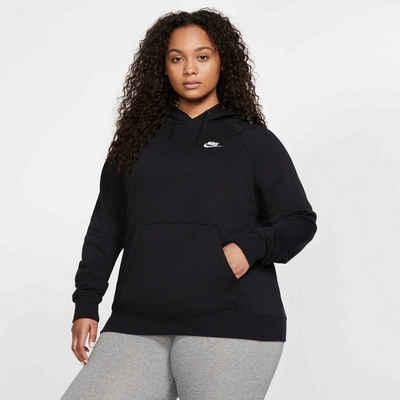 Nike Sportswear Kapuzensweatshirt »WOMEN NIKE SPORTSWEAR ESSENTIAL HOODY FLEECE PLUS SIZE«