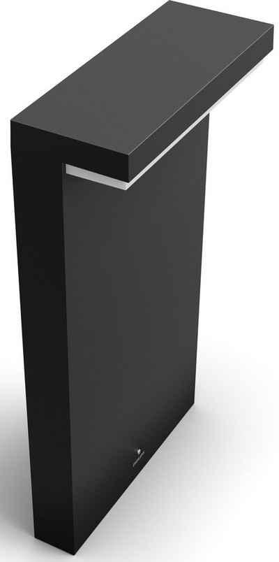 Philips Hue LED Sockelleuchte »Philips Hue White & Col. Amb. Nyro Sockelleuchte«, LED Sockelleuchte für den Außenbereich, Bridge erforderlich (nicht im Lieferumfang enthalten), IP44, Hochvolt-System mit Anschluss an eine vorhandene Stromleitung, Verschönern Sie Ihren Garten mit 16 Millionen Farben, Genießen Sie lange Abende im Freien mit warmweißem, gedimmtem Licht, Beleuchten und personalisieren Sie Ihren Außenbereich, Setzen Sie Highlights in Ihrem Garten, LED integriert
