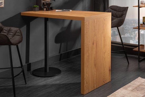 riess-ambiente Bartisch »MAGNUS 120cm natur / schwarz«, Küche · Eichen-Optik · eckig · Metall · Retro