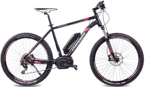 Chrisson E-Bike »E-Mounter 2.0«, 10 Gang Shimano Deore RD-M615-SGS Schaltwerk, Kettenschaltung, Mittelmotor 250 W
