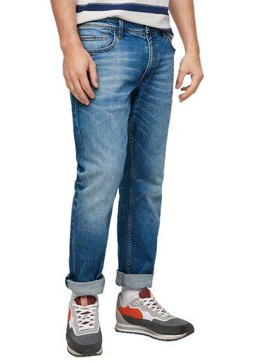s.Oliver Straight-Jeans »YORK« mit authentischer Waschung