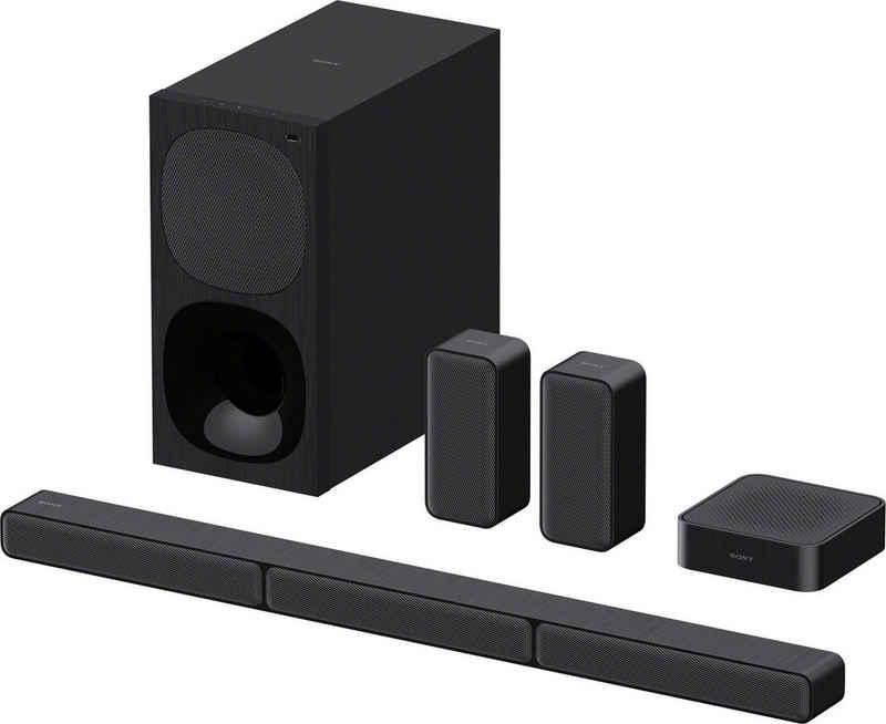 Sony HT-S40R Kanal- 5.1 Soundbar (Bluetooth, 600 W, inkl. kabelgebundenem Subwoofer, kabellosen Rear-Lautsprechern, Surround Sound, Dolby Digital)