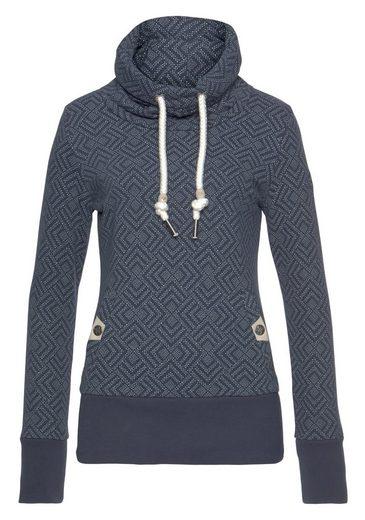 Ragwear Sweater »RYLIE« lädt zum Kuscheln ein, mit extra breiten Rippstrickbündchen
