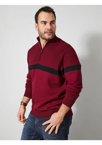 Men Plus Megztinis in melierter imitacija