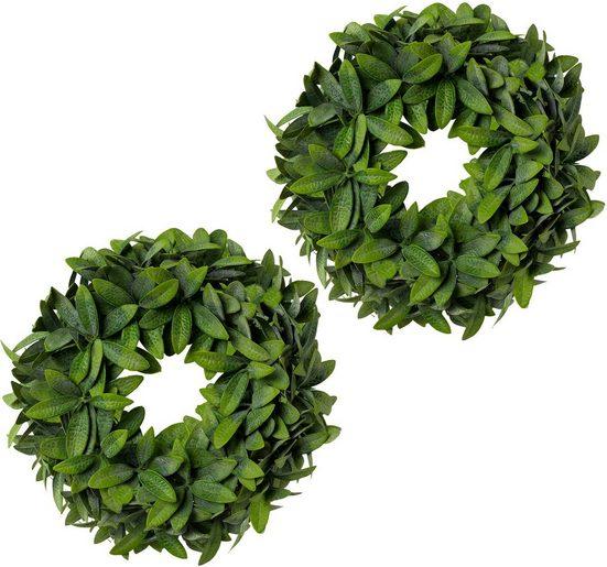Kunstkranz »Olivenblattkranz«, Creativ green, 2er Set