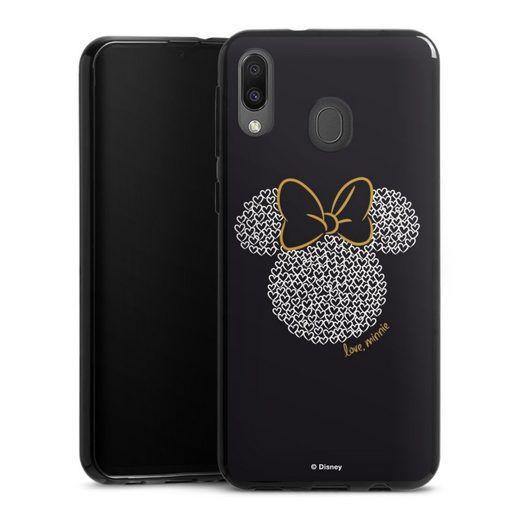 DeinDesign Handyhülle »Minnie Black and White« Samsung Galaxy M20, Hülle Minnie Mouse Disney Muster