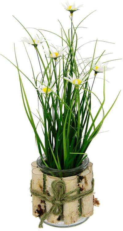 Kunstblume »Margeriten im Gras« Margeriten, I.GE.A., Höhe 33 cm, 3er Set