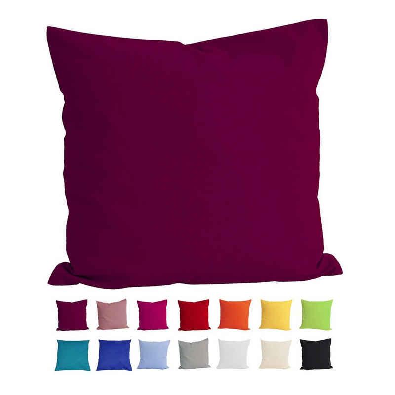 Kissenbezug »Basic«, beties, Kissenhülle ca. 40x40 cm 100% Baumwolle in vielen kräftigen Uni-Farben (hibiskus)