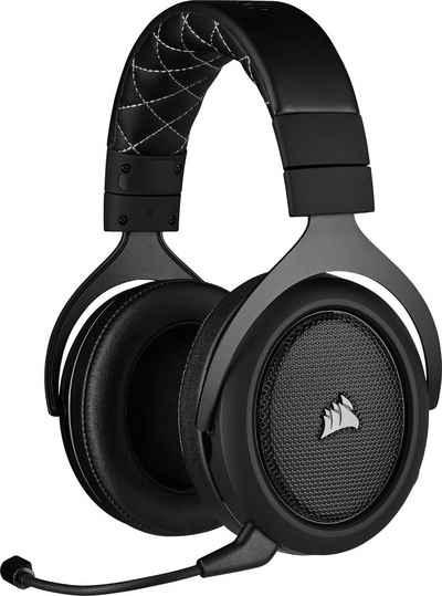 Corsair »HS70 PRO Wireless Carbon« Gaming-Headset (Bietet eine Reichweite von bis zu 12 Metern und eine Akkulaufzeit von bis zu 16 Stunden)