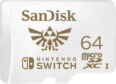 Sandisk »microSDXC Extreme 64GB (U3/UHS-I/Cl.10/R100/W60) für Nintendo Switch« Speicherkarte (64 GB, 100 MB/s Lesegeschwindigkeit)