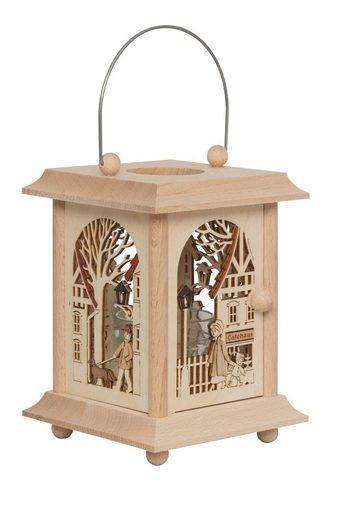 Kuhnert Laterne »27046, Altstadt«, hochwertige Tischlaterne aus Holz, Made in Germany