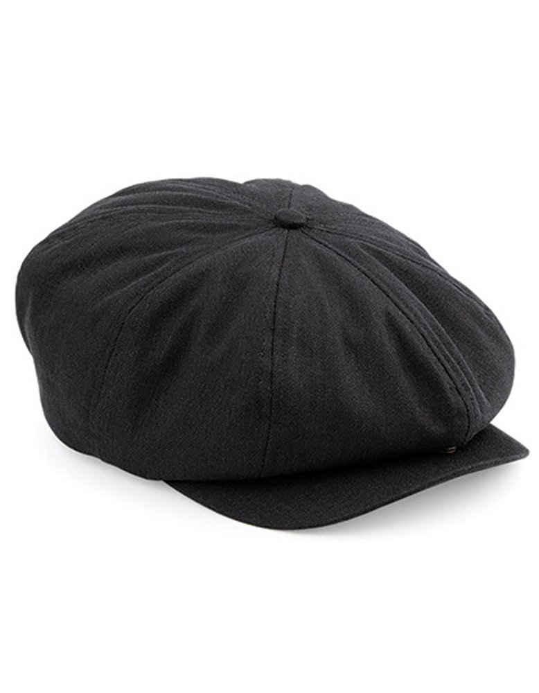 Goodman Design Flat Cap »Schiebermütze Gatsby Streetcap Newsboy Cap« schwere, gewaschene Baumwolle. Schirm mit Druckknopf