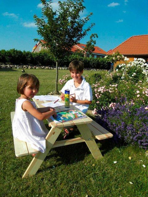 Sitzmöbel - promadino Kindersitzgruppe »Limobank«, Picknicktisch, BxTxH 90x90x49 cm  - Onlineshop OTTO