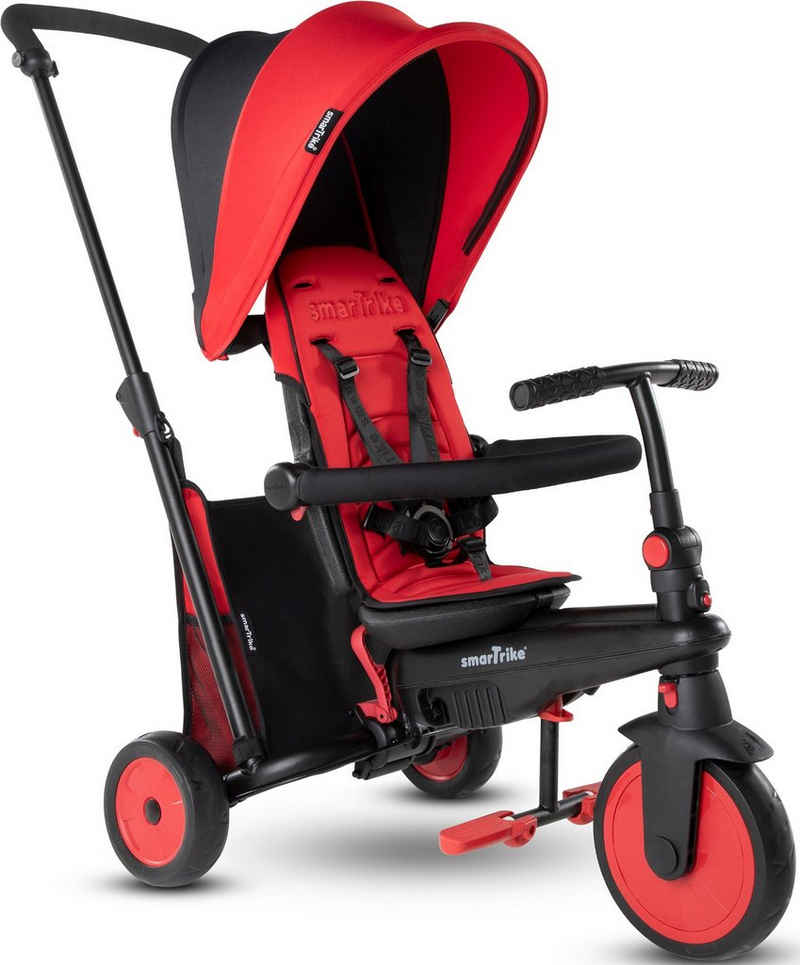smarTrike® Dreirad »FoldingTrike STR3, Rot«, mit verstellbarem Sonnenschutzdach