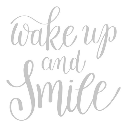 dekodino Wandtattoo »Wake up and smile« (1 Stück)